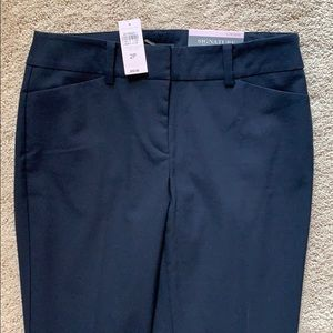NEW ANN TAYLOR NAVY DRESS PANTS sz2p